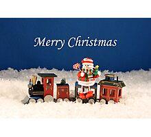 Christmas Express Train Photographic Print