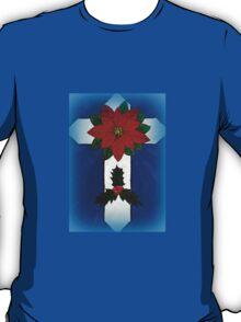 Poinsettia Cross T-Shirt