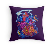 BUSTED HEART Throw Pillow
