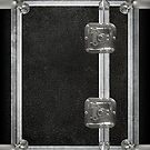 Flightcase (Black) iPad Case by abinning