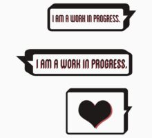 I Am a Work in Progress One Piece - Short Sleeve
