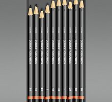 Artists Pencils Set iPhone Case by Alisdair Binning