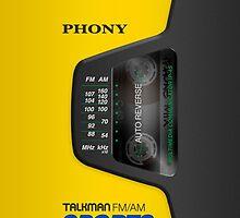Phony Talkman iPhone Case (Sony Walkman Sports style) by Alisdair Binning