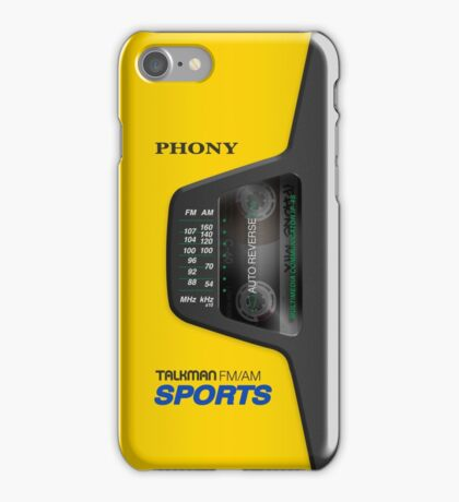Phony Talkman iPhone Case (Sony Walkman Sports style) iPhone Case/Skin