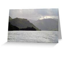 Ullswater, lake and mist Greeting Card