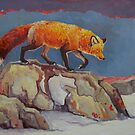 Fox on the Rocks by Angie Rodrigues