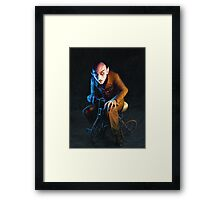 Nosferatu On A Tricycle Framed Print