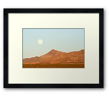 Full Moon and Crescent Peak Framed Print