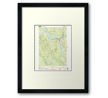 Maine USGS Historical Map Norway 102838 2000 24000 Framed Print