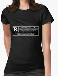 Rated R for content Womens Fitted T-Shirt