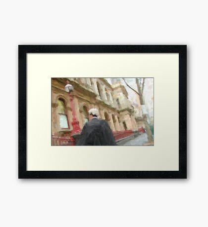 lawyer on the go! Framed Print