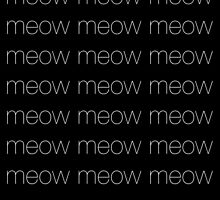 Meows white by Greven