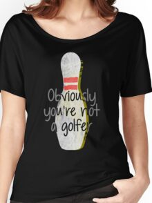 The Big Lebowski DUDE bowling art Women's Relaxed Fit T-Shirt