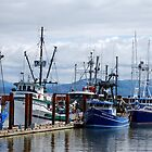 Harbor at Astoria Oregon by Marie Terry