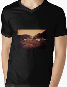 Clovelly Harbour  Mens V-Neck T-Shirt