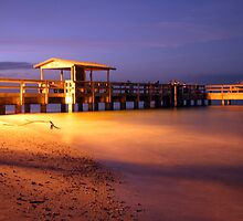 Twilight on the Fishing Pier by noffi