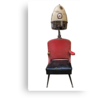 Vintage Retro Barber Hair Dryer And Chair Canvas Print