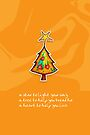 Christmas Card - Groovy Orange Wish Tree by © Karin Taylor
