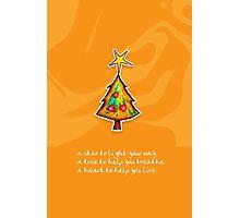 Christmas Card - Groovy Orange Wish Tree Photographic Print