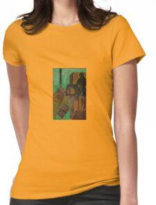 dark doorway Womens Fitted T-Shirt