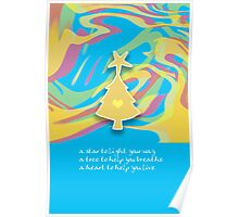 Christmas Card - Swish Wish Tree Poster