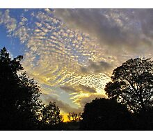 Evening sky, autumn (London) Photographic Print