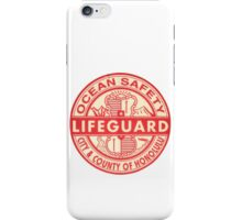 Hawaii Lifeguard Logo iPhone Case/Skin
