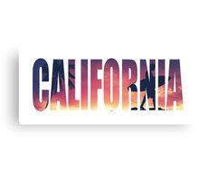 Vintage Filtered California Postcard Canvas Print