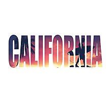 Vintage Filtered California Postcard Photographic Print