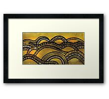 Golden Hills Framed Print
