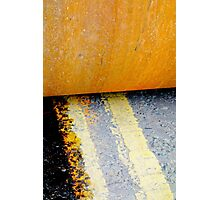 HAMM Roller on Double Yellow Lines Photographic Print