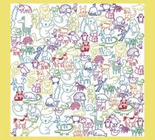 Animal Parade One Piece - Short Sleeve