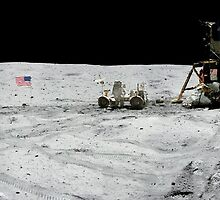 Apollo 17 : Amazing Panoramic Picture Taken on the Moons surface by verypeculiar