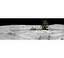 Apollo 17 : Amazing Panoramic Picture Taken on the Moons surface Photographic Print