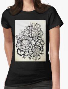 frangipani tree of sugar skulls  Womens Fitted T-Shirt