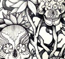 frangipani tree of sugar skulls  Sticker