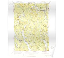 Maine USGS Historical Map Norway 460690 1946 62500 Poster