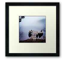 The calmest place on earth Framed Print