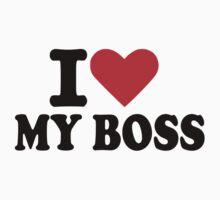 I love my boss One Piece - Short Sleeve