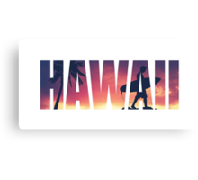Vintage Filtered Hawaii Postcard Canvas Print