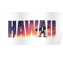 Vintage Filtered Hawaii Postcard Poster