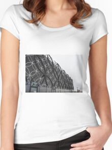 Library Of Birmingham Upper Facade Women's Fitted Scoop T-Shirt
