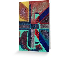 cross inspired labyrinth  Greeting Card