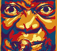 Louis Armstrong Colorful Portrait Design  by amillusions