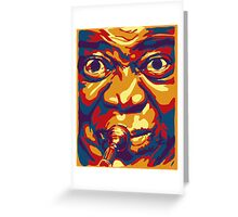 Louis Armstrong Colorful Portrait Design  Greeting Card
