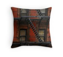 Zig-Zag Fire Escapes Throw Pillow
