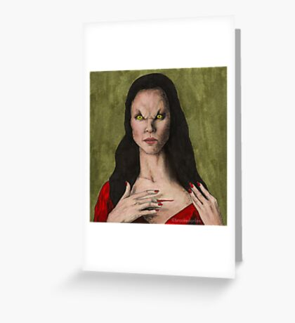The Trial - Drusilla - BtVS Greeting Card