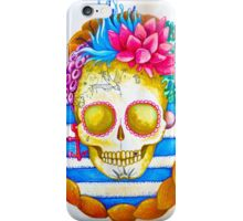 ocean mermaid sugar skull iPhone Case/Skin