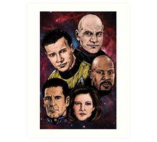 Star Trek Captains Art Print