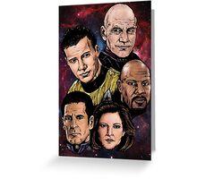 Star Trek Captains Greeting Card